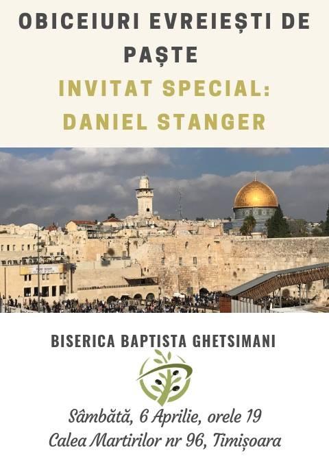 Daniel Stanger din Israel la Biserica Baptistă Ghetsimani Timișoara