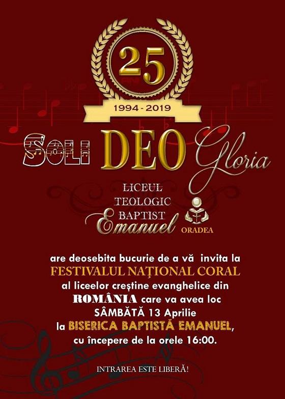 Festivalul Soli Deo Gloria la Oradea