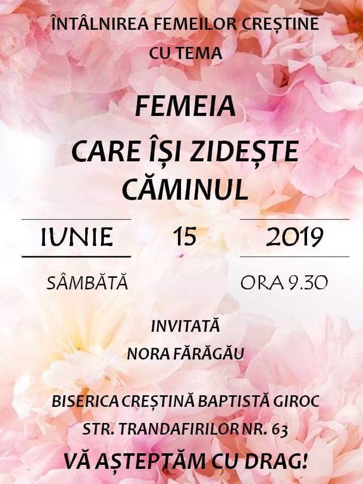 Întâlnire pentru femei la Giroc, cu Nora Fărăgău