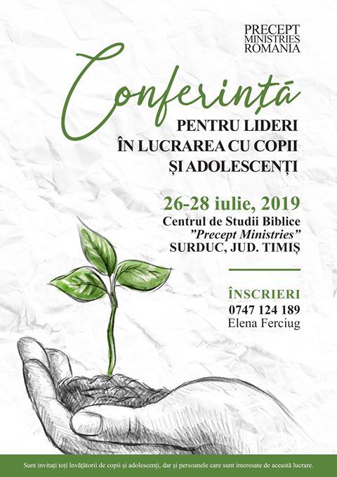Conferință pentru lideri în lucrarea cu copii și adolescenți