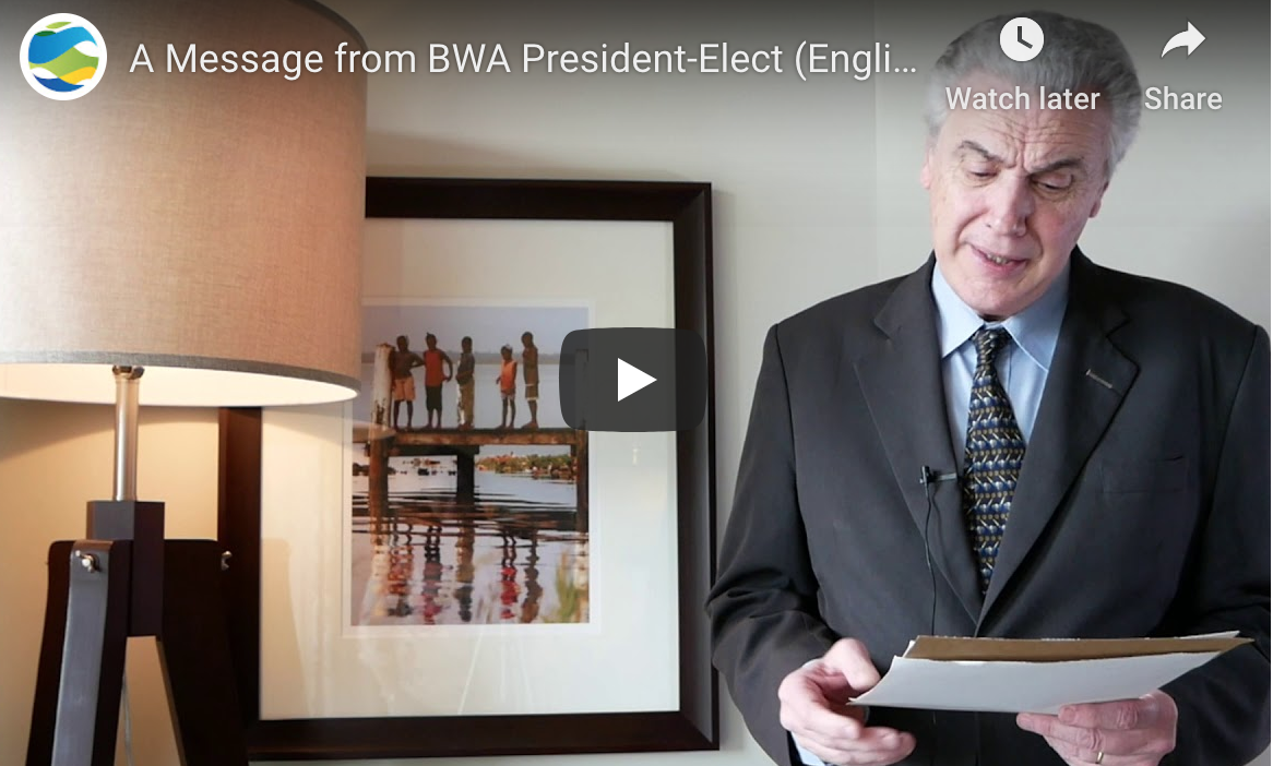 A Message from BWA President-Elect (English)