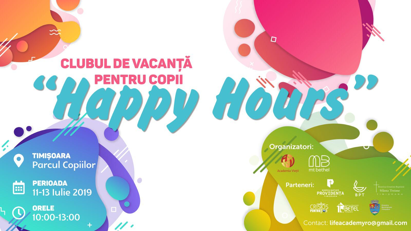 Biserica Baptistă Providența & Academia Vieții organizează un Club de vacanță pentru copii, în Parcul Copiilor din Timișoara