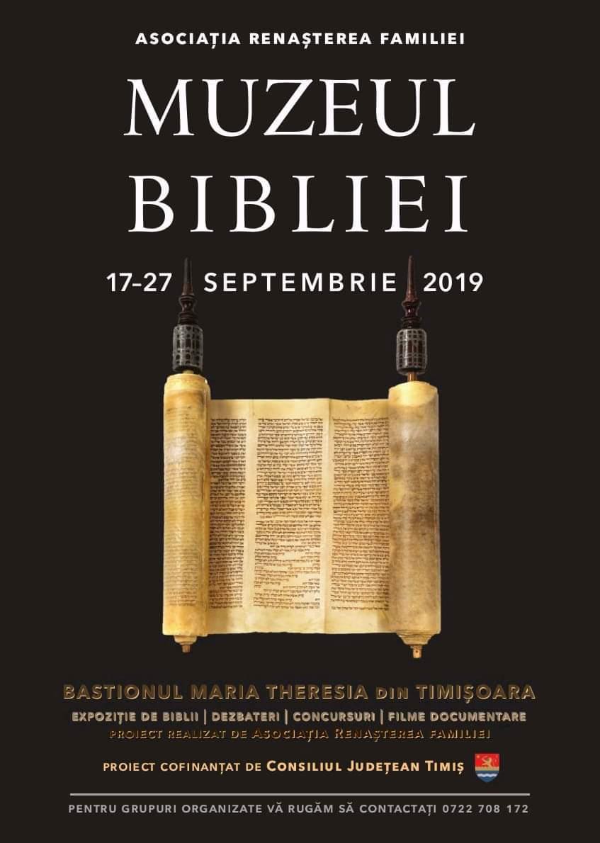 O nouă ediție Muzeul Bibliei la Timişoara