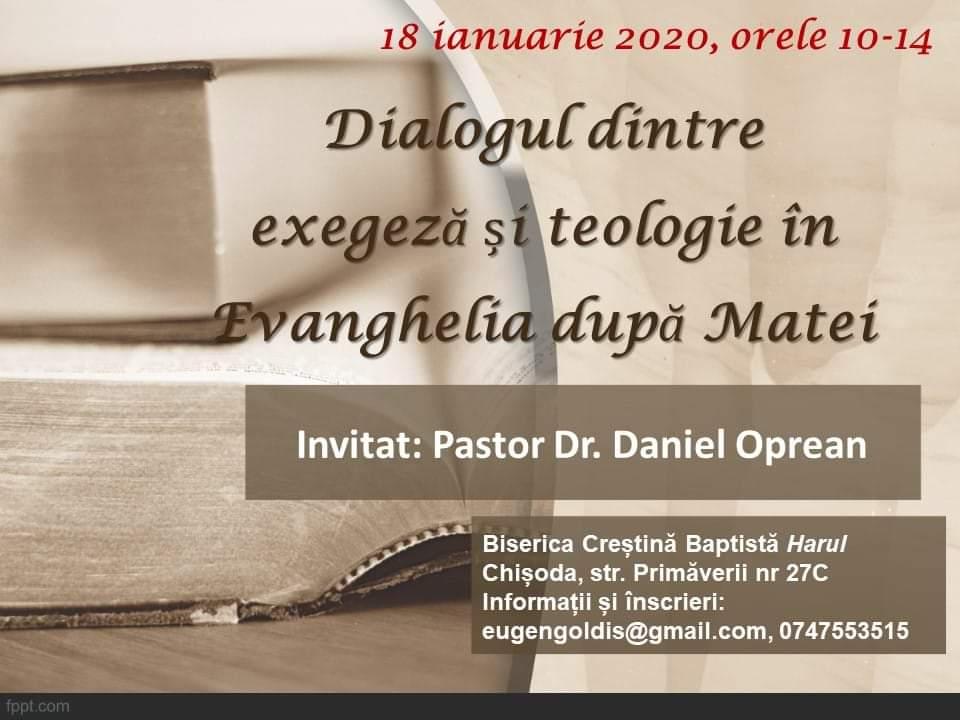 Dialogul dintre exegeză și teologie în Evanghelia după Matei