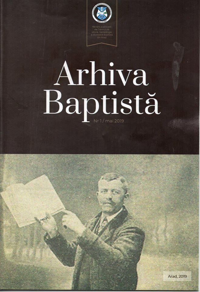 "Abonament la revista ""Arhiva baptistă"""