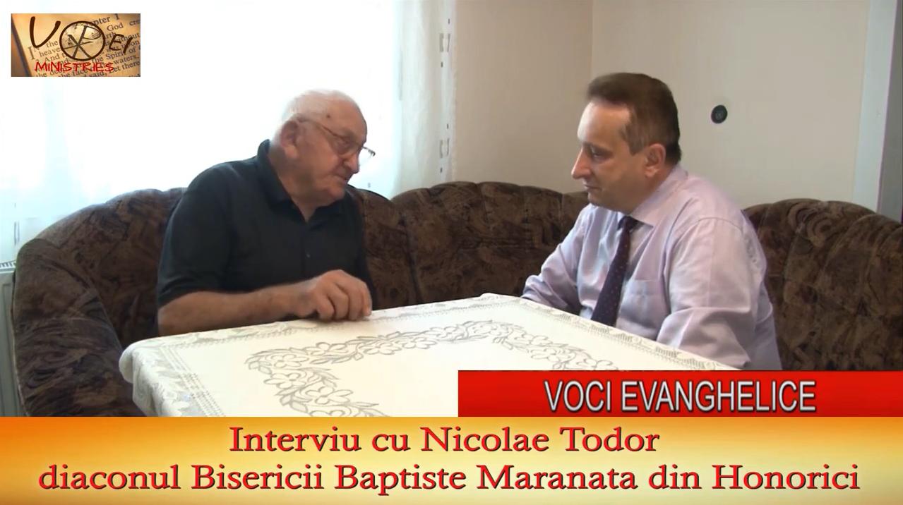 Interviu cu Nicolae Todor de Dr Ionel Tutac